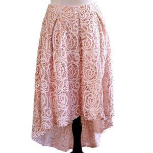 Ark & Co Blush Tulle & Lace Embroidered Hi-Low NEW